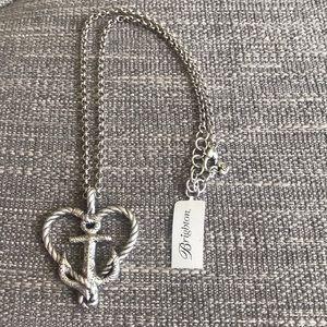 Brighton Seas the Day Anchor Heart Necklace NEW